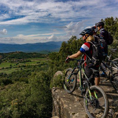 uitzicht punt op mtb trail zona zero Spanje